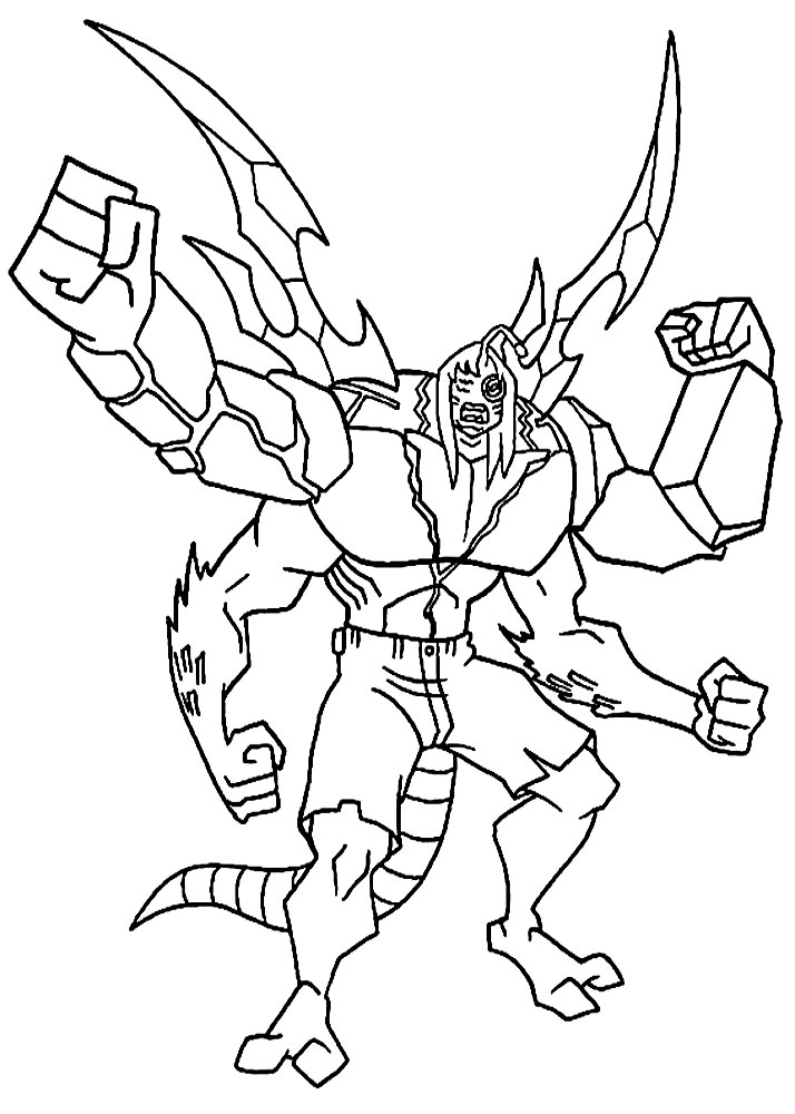 Ben Ten coloring pages for boys print for free