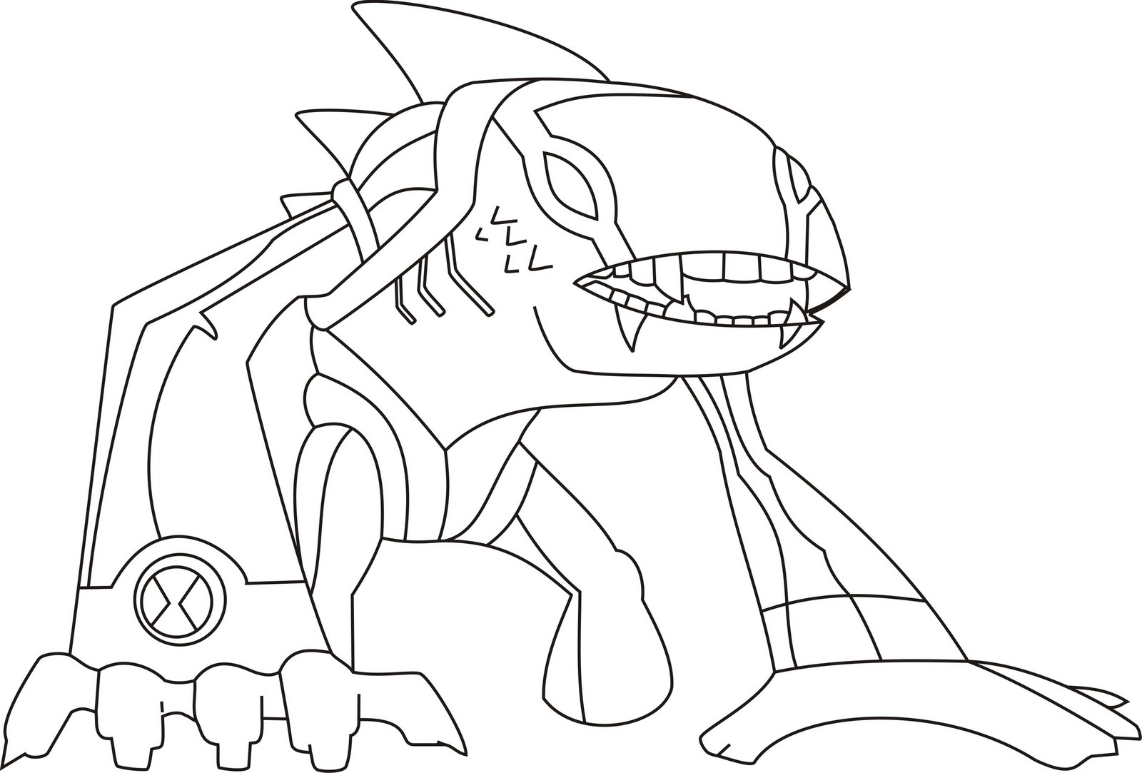 coloring pages ben 10 - photo#28