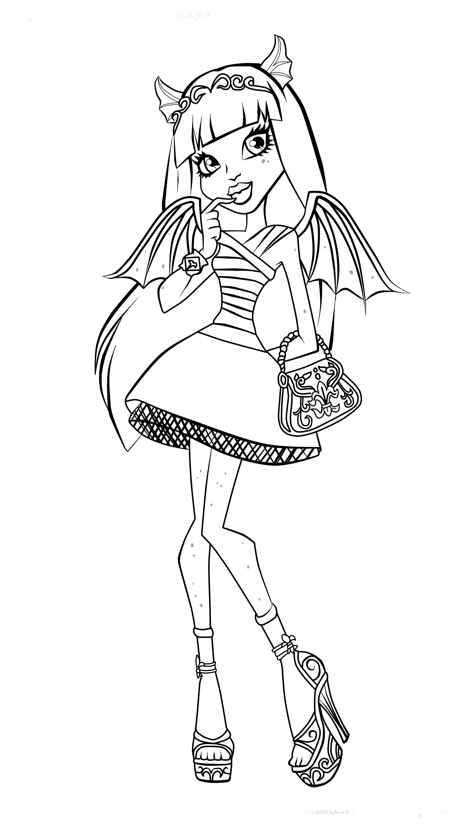 Print Monster High coloring pages for free or