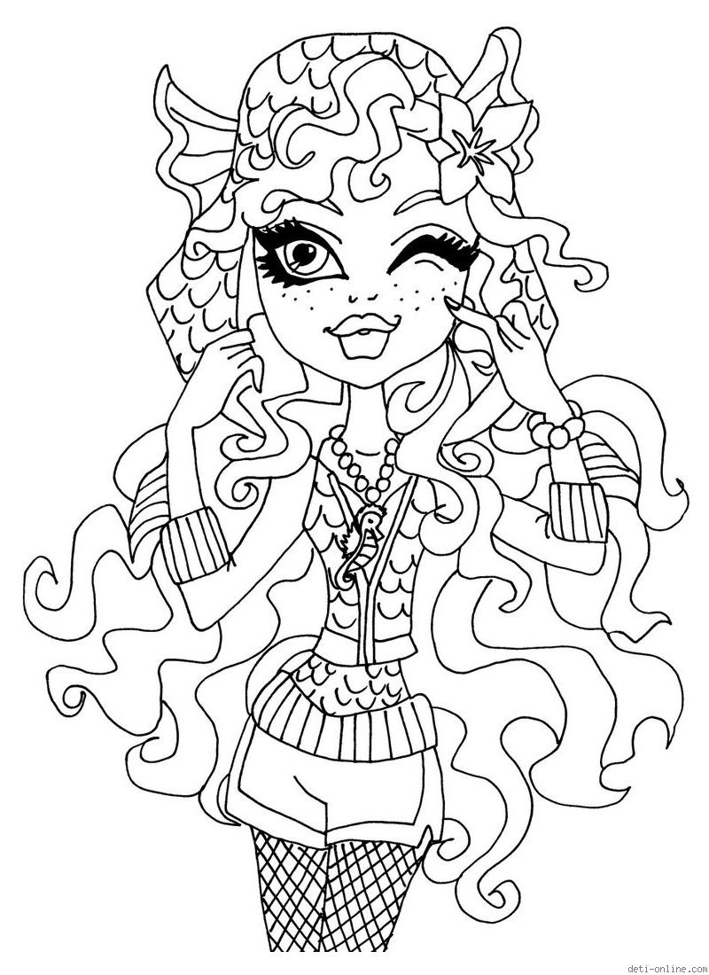 Print Monster High coloring pages for free or download