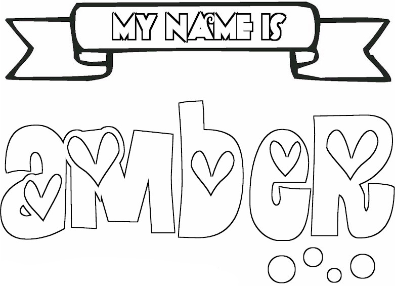 Create A Coloring Page With Names Coloring Pages