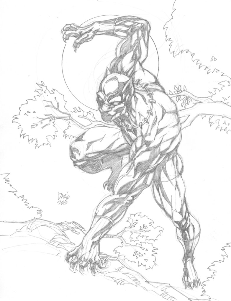 Black panther coloring pages to
