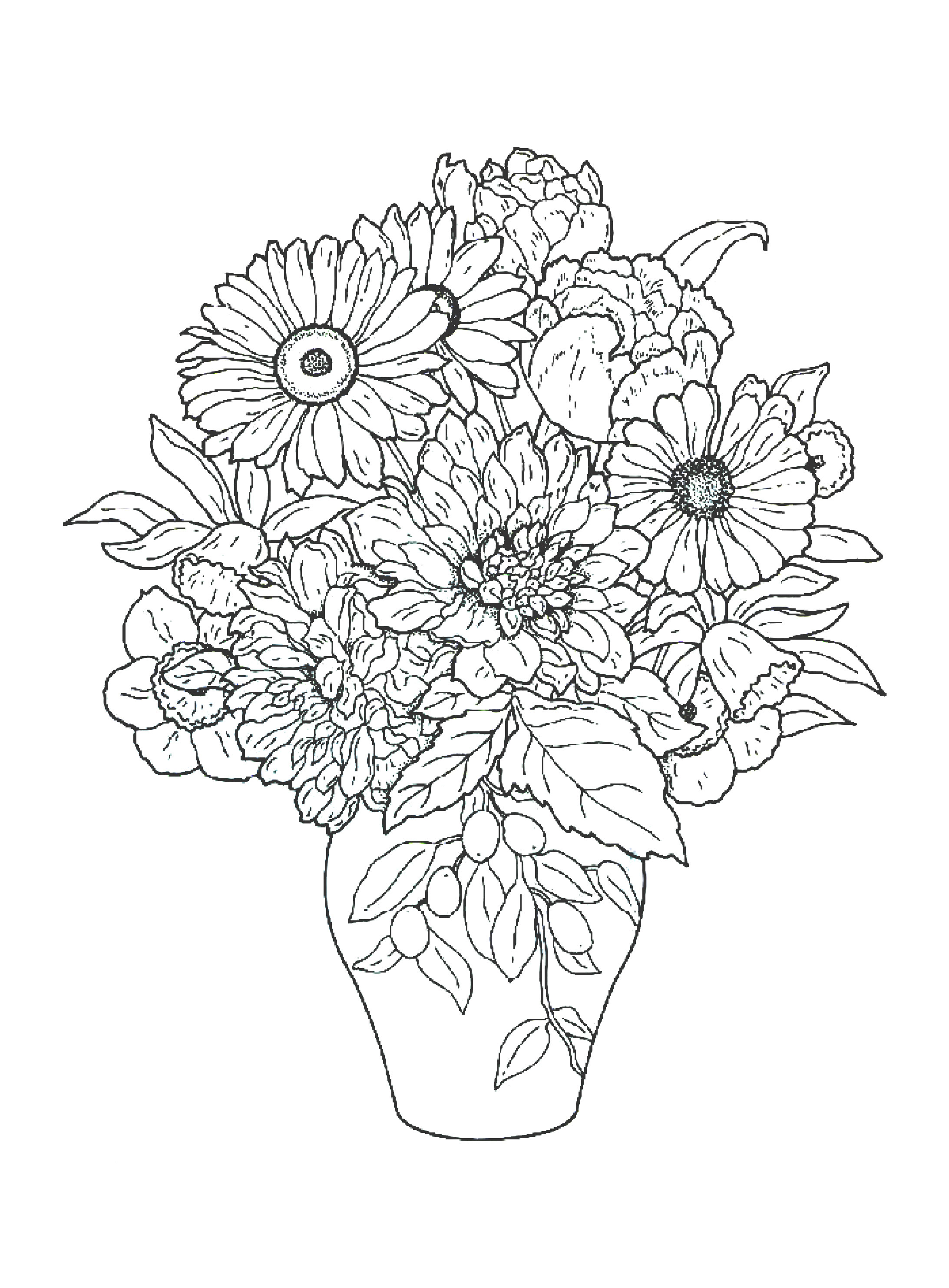 pics of coloring pages flowers - photo#8