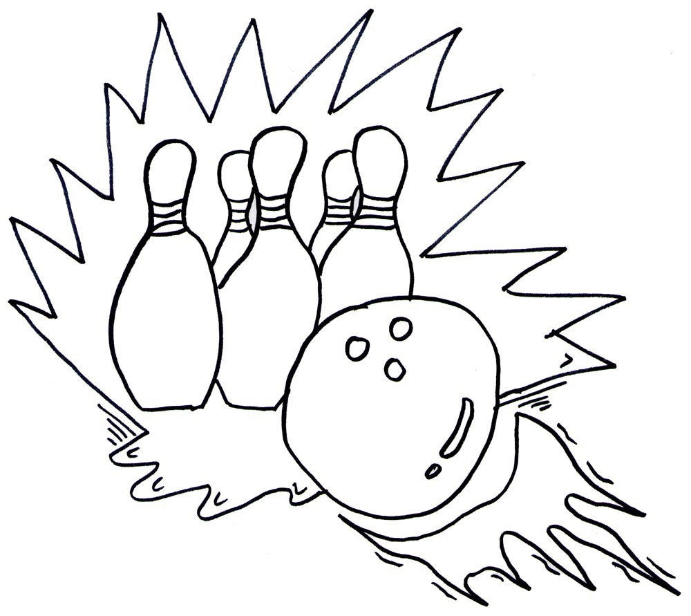 Bowling Coloring Pages for childrens