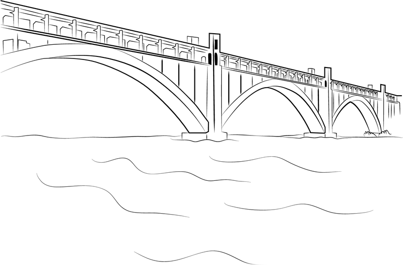 Bridge coloring pages to download