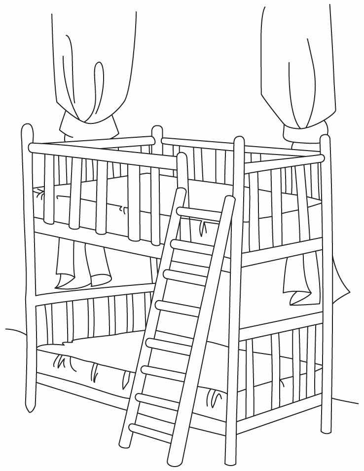 big bed pics coloring pages - photo#22