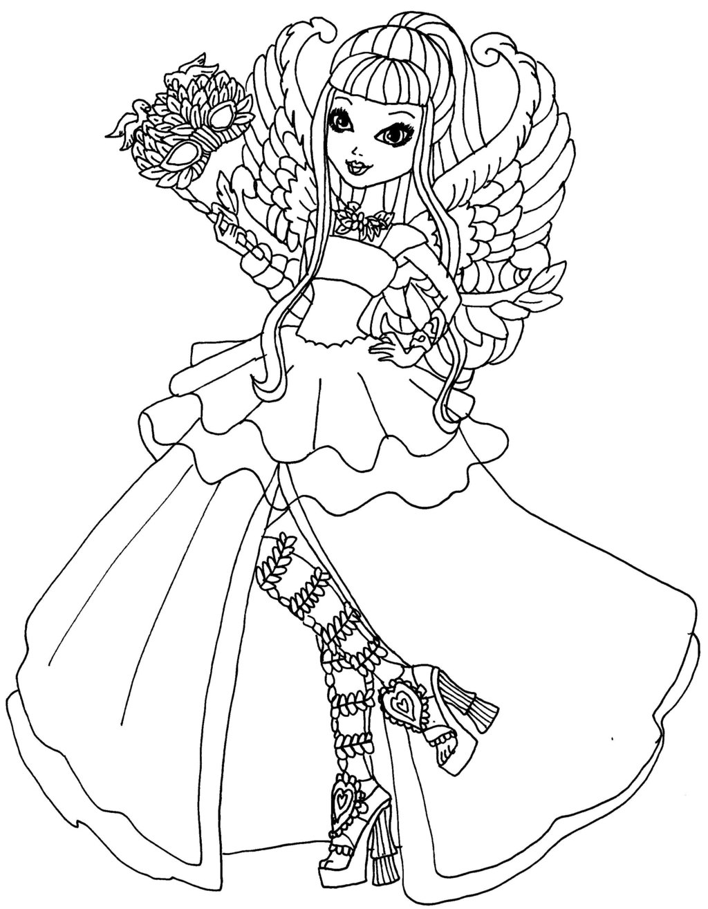 free ever after high coloring pages | Ever After High coloring pages to download and print for free