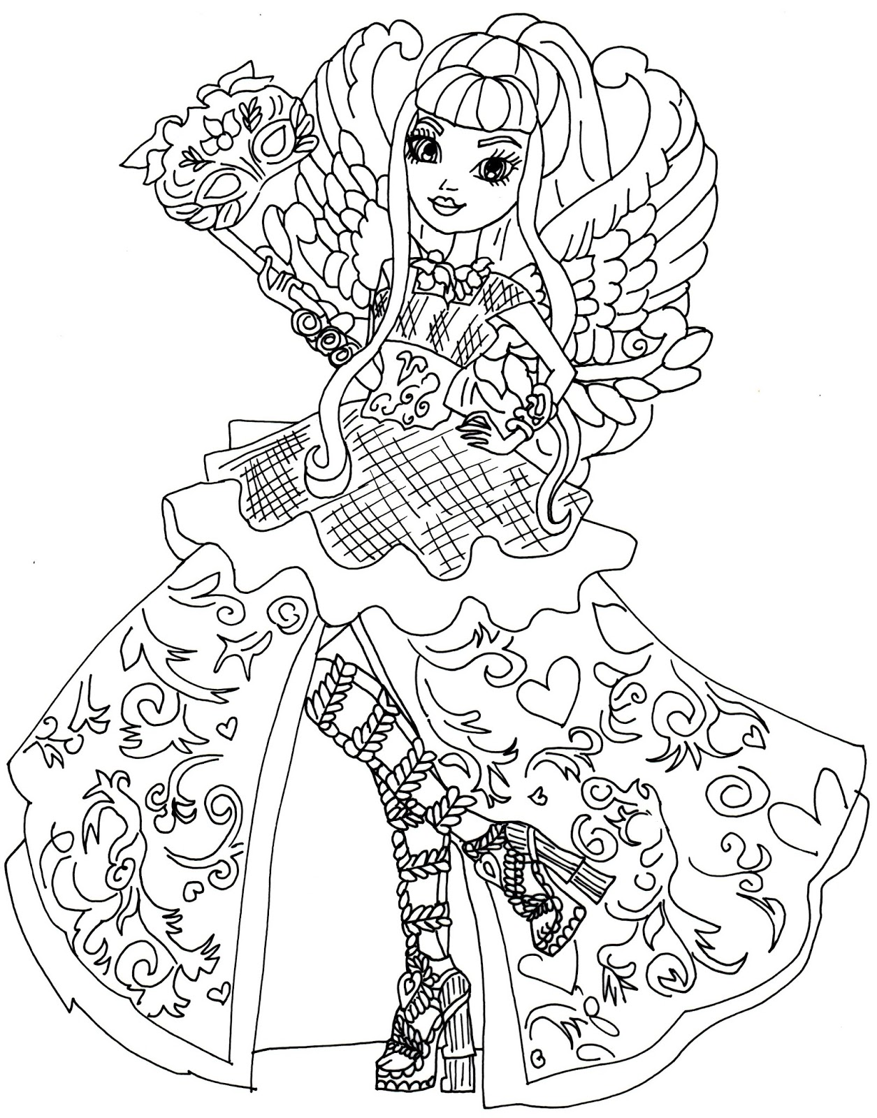 This is a photo of Exhilarating Ever After High Coloring Book