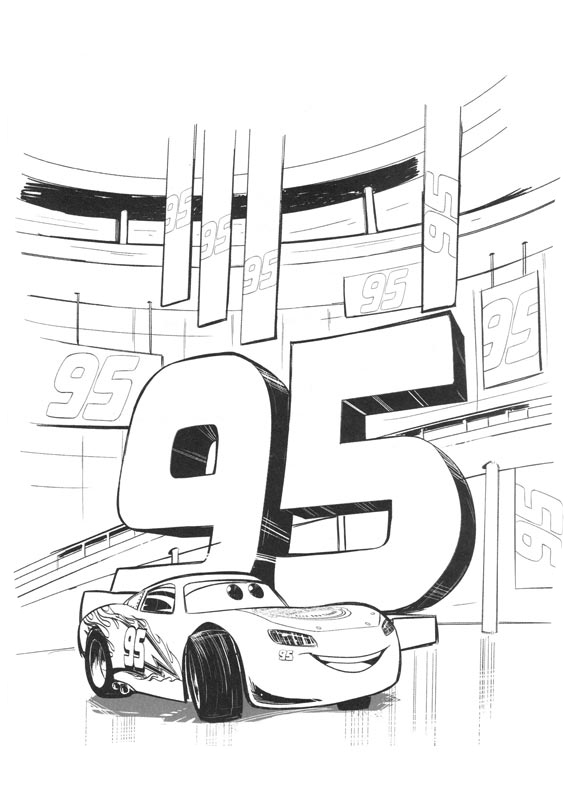Sally Cars 3 Coloring Pages