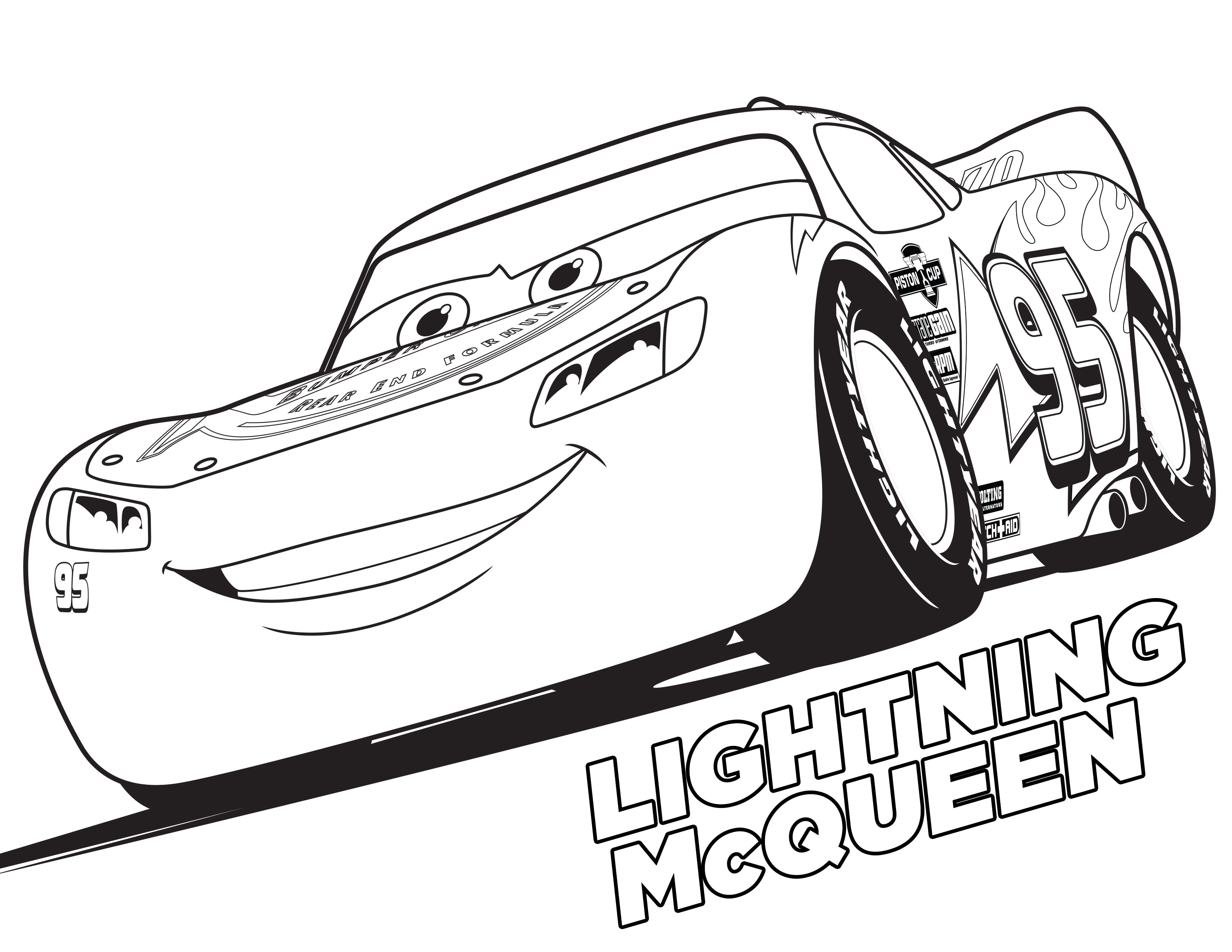 cars 3 coloring pages - 3 Coloring Page