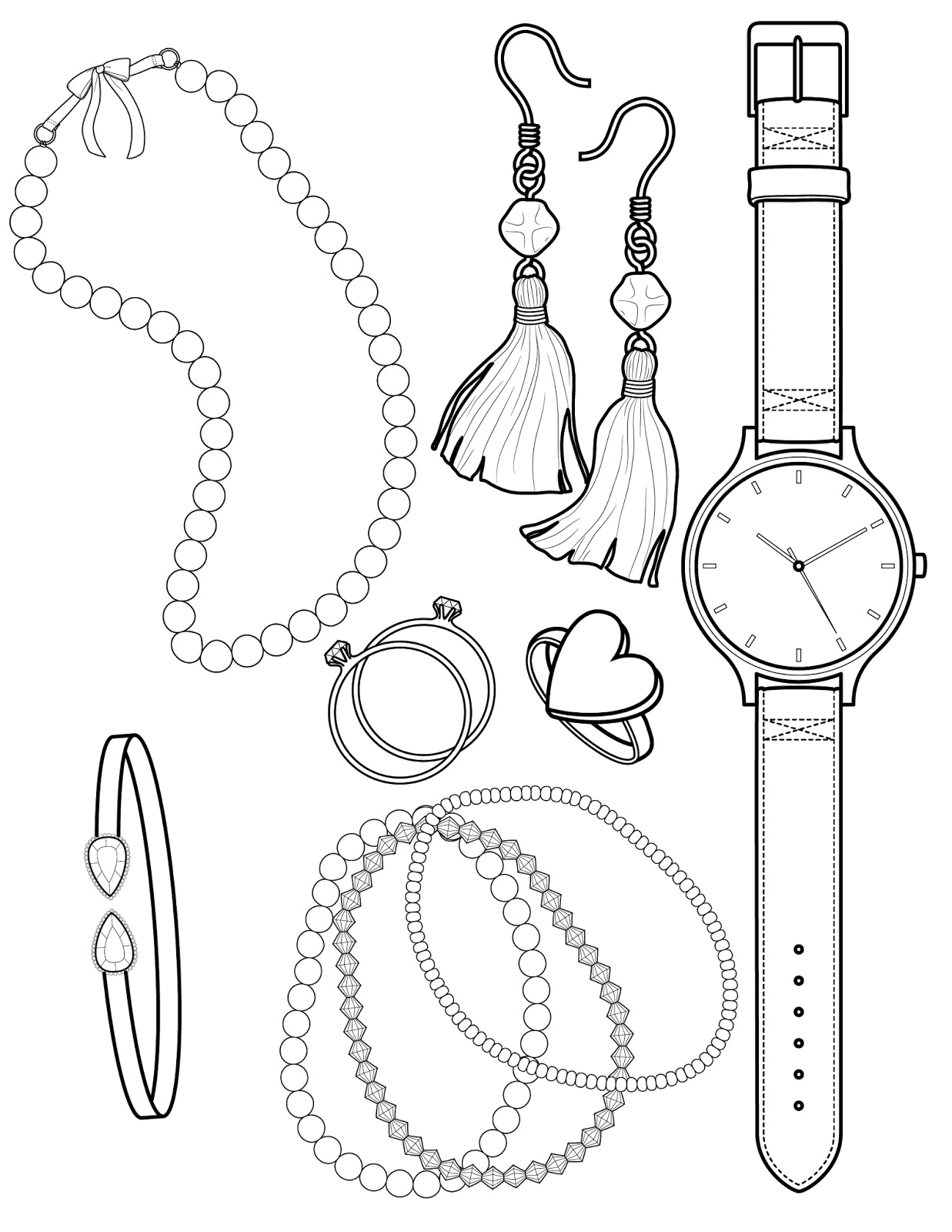 jewlery coloring pages - photo#9