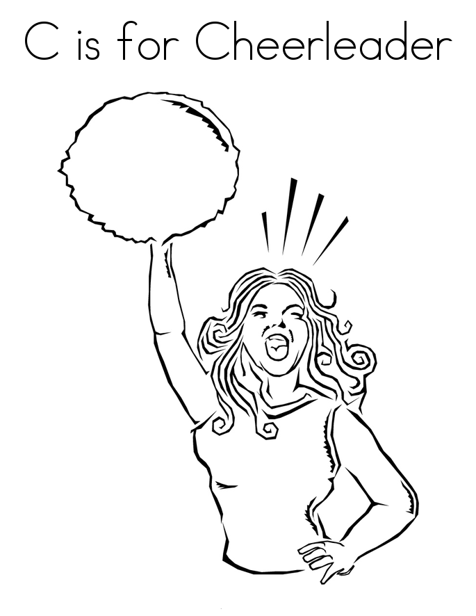 Cheerleaders Coloring Pages For Childrens Printable For Free