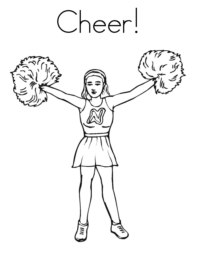 Cheerleaders Coloring Pages for