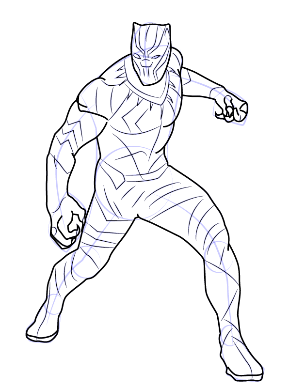Black panther coloring pages to download and print for free for Black jaguar coloring page