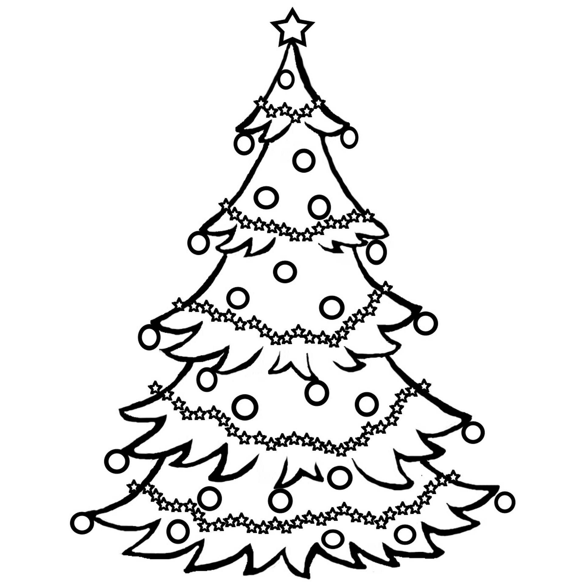 christmas toys coloring pages - Christmas Tree Coloring Sheets