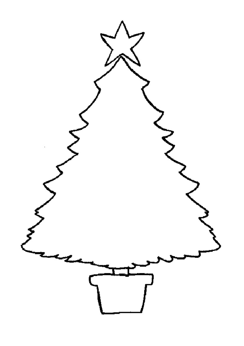 Chrismas Tree Coloring on printable coloring pages santa