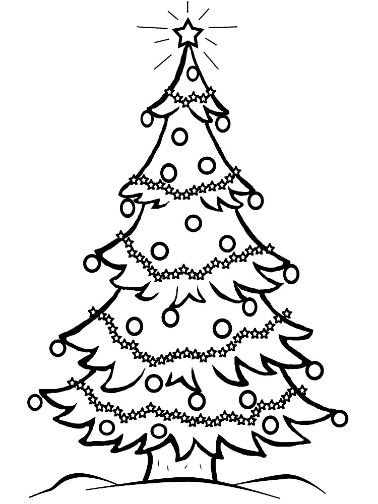 Christmas Tree Coloring Pages for