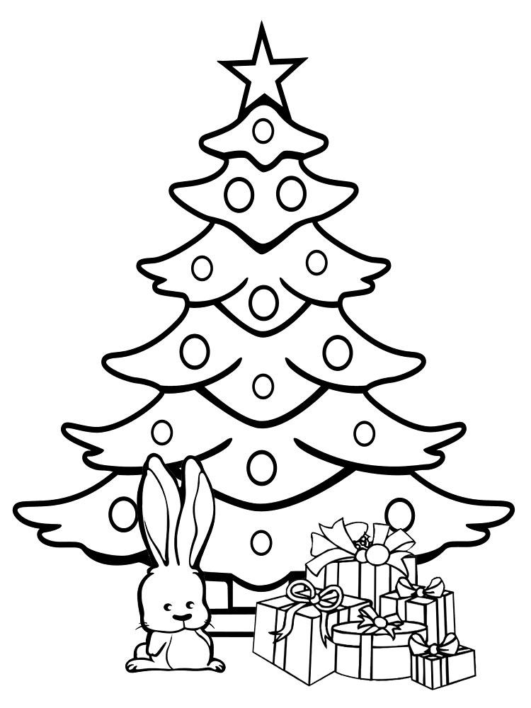 Christmas tree coloring pages for childrens printable for free - Dibujos de arboles de navidad ...