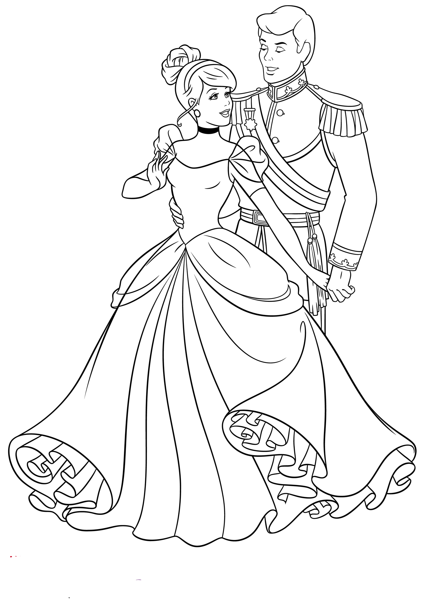 Cinderella coloring pages to download