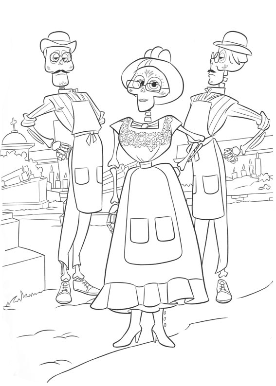 Coco Coloring Pages Pepita 80 250 49 Coloring Mewarnai Site