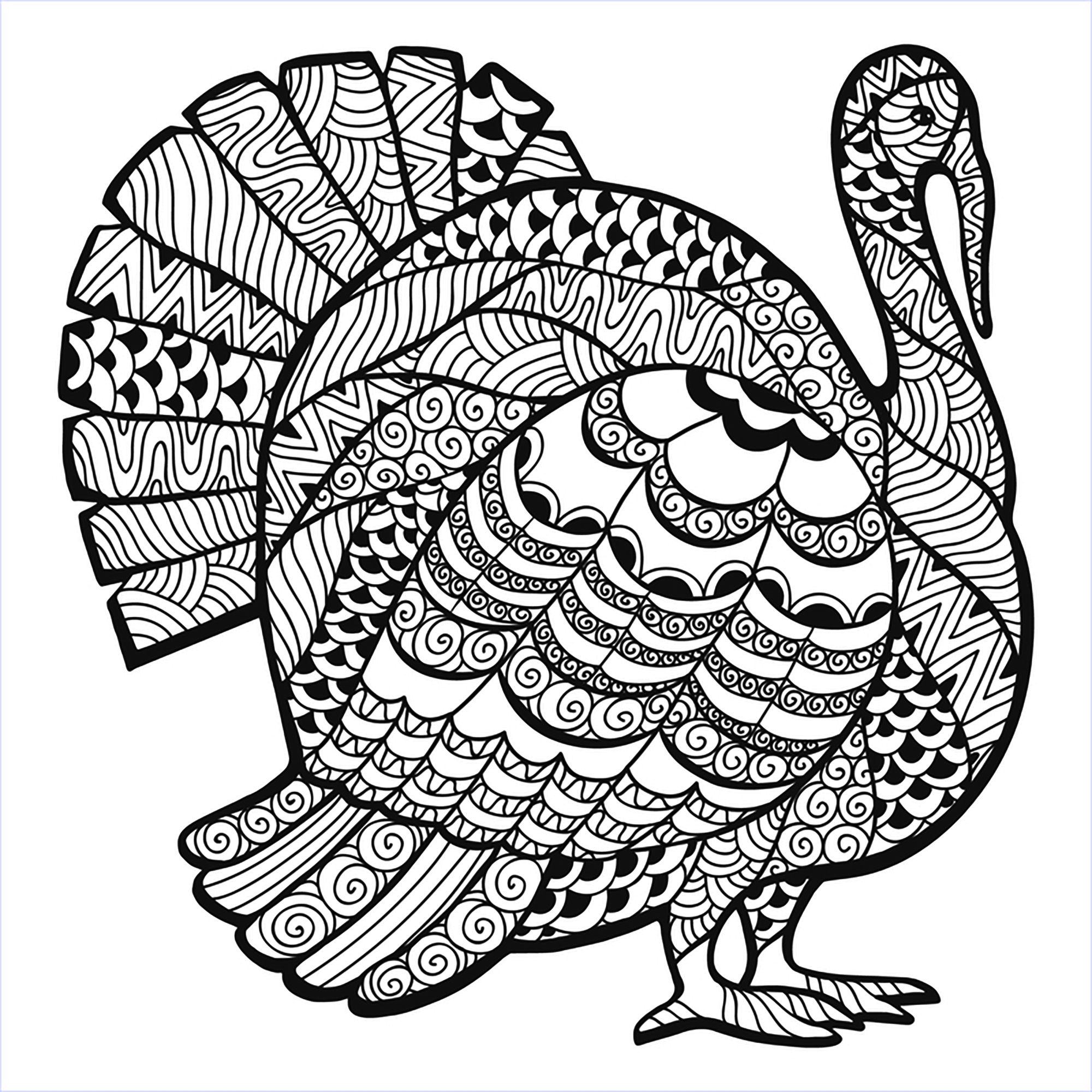 Coloring Pages For Adults: Thanksgiving Coloring Pages For Adults To Download And