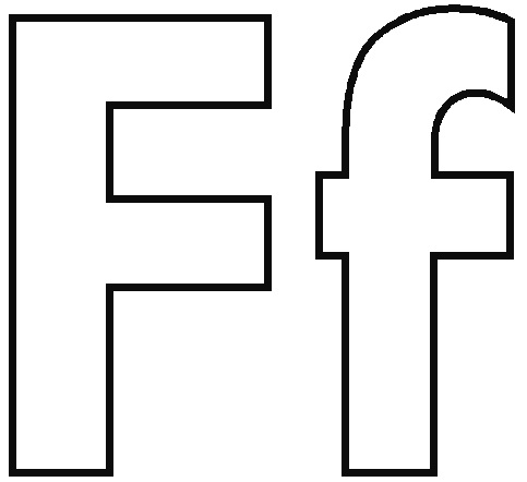 Letter F coloring pages to download