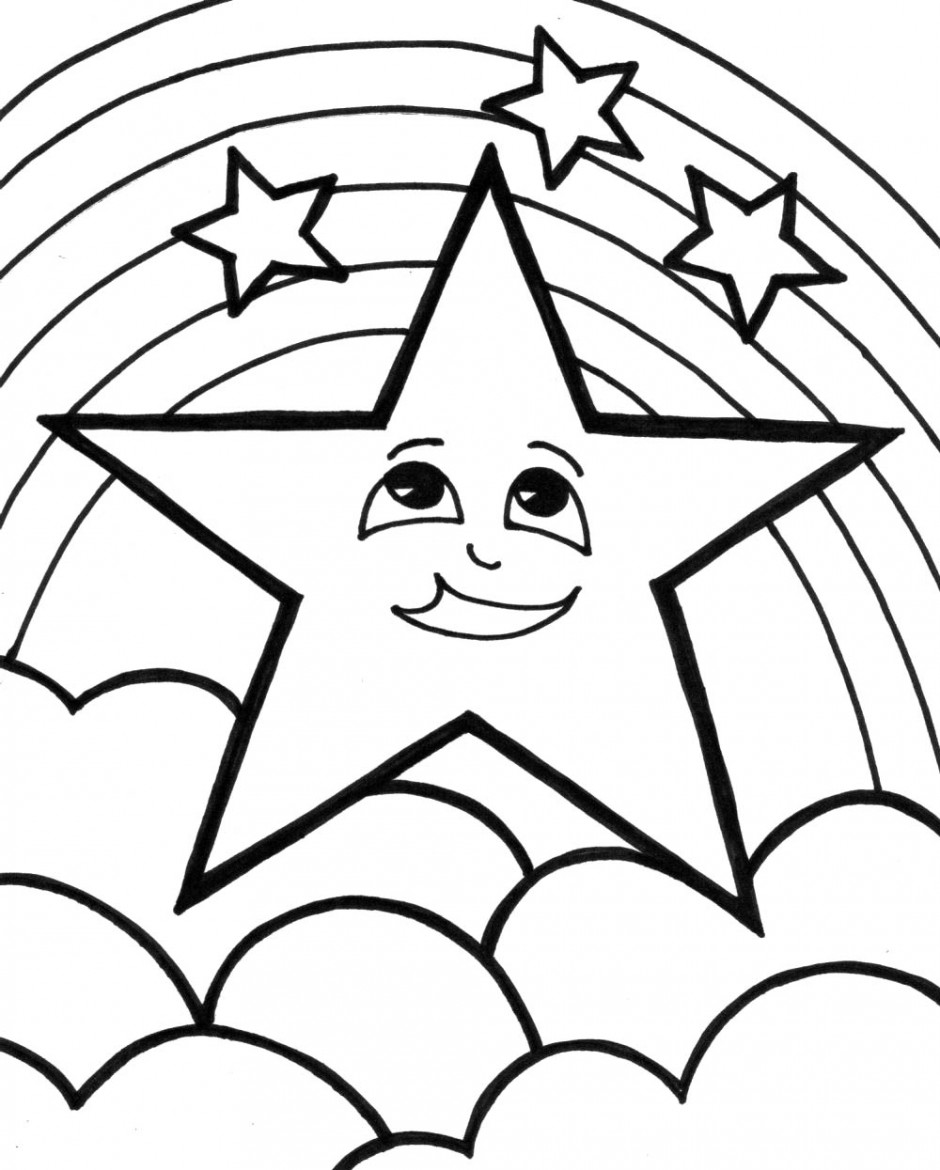 This is a photo of Monster Star Coloring Pages Printable