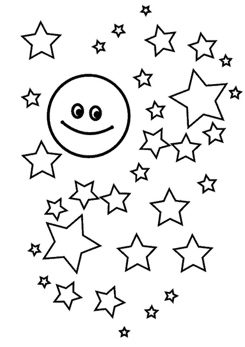 Star Coloring Pages for childrens