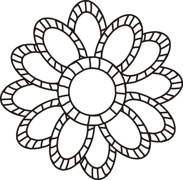 Large flowers coloring pages to