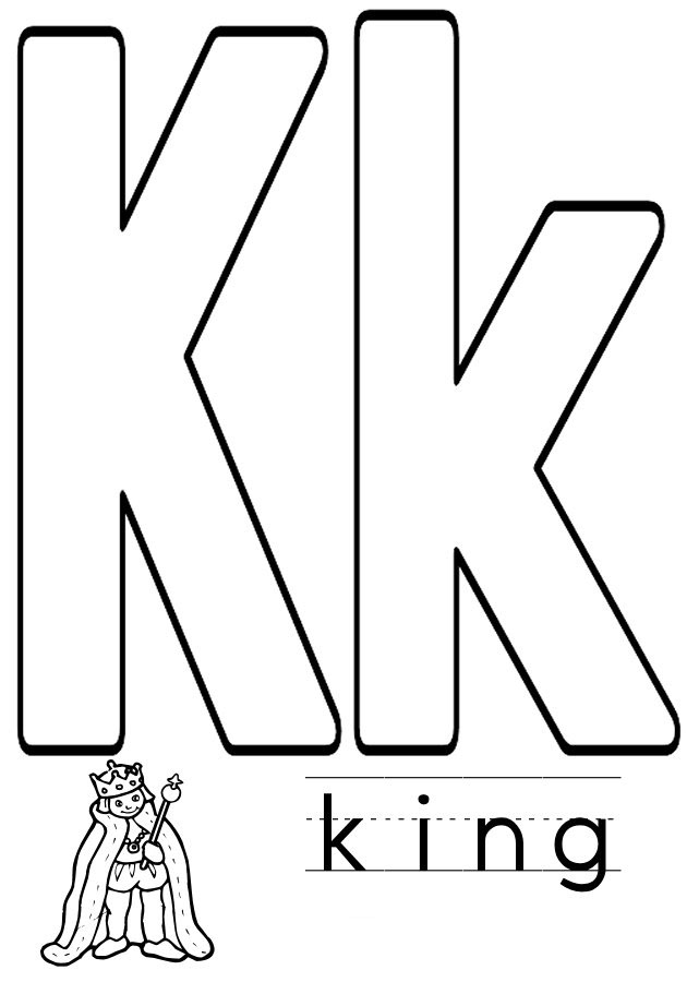 the letter k coloring pages | Letter K coloring pages to download and print for free