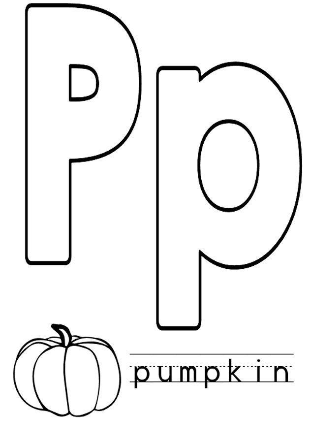 Letter P Coloring Pages To Download And Print For Free