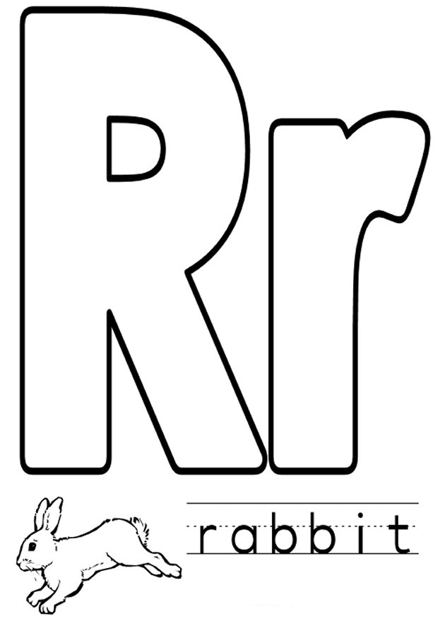 Letter R Coloring Pages To Download And Print For Free Letter R Coloring Page