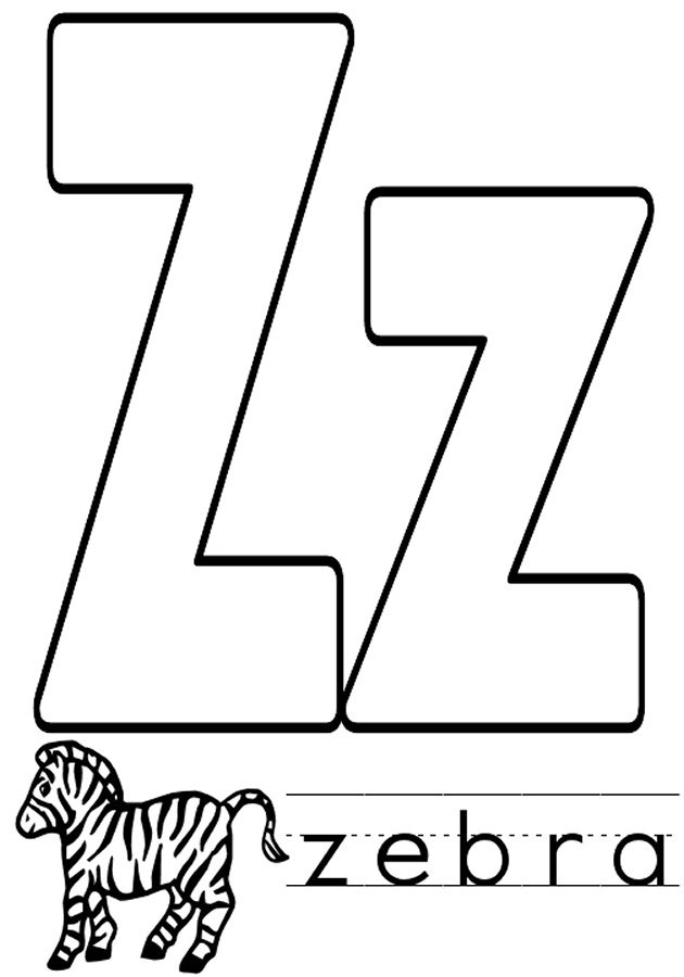 free printable alphabet coloring pages az - letter z coloring pages to download and print for free