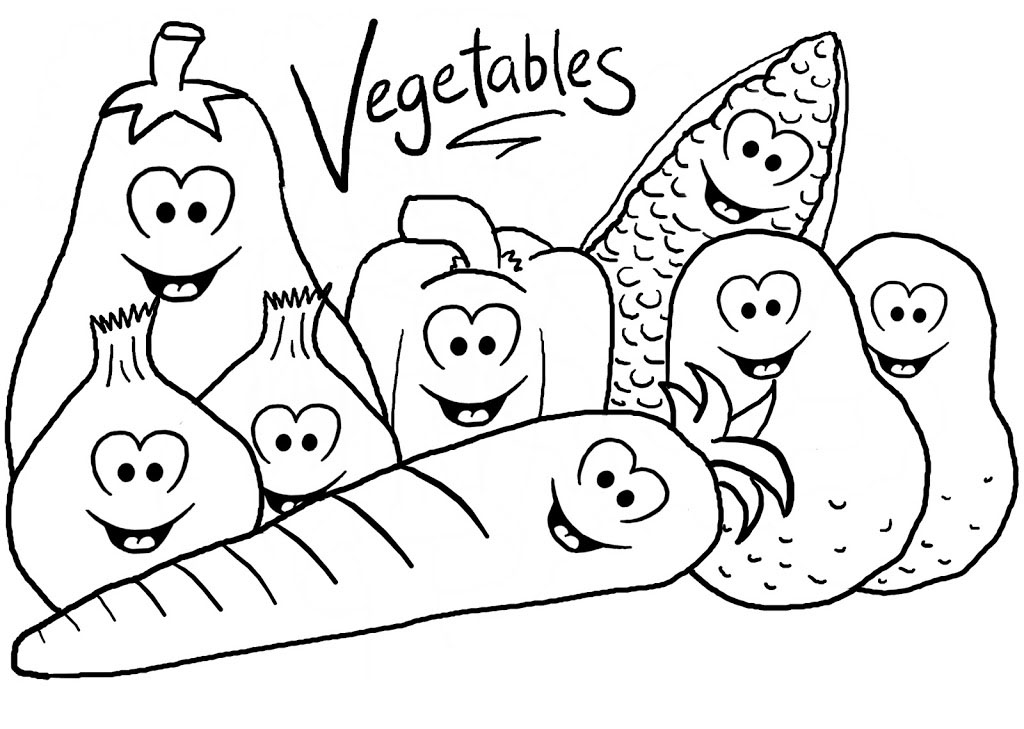 Healthy lifestyle coloring pages to download and print for for Healthy food coloring pages printable