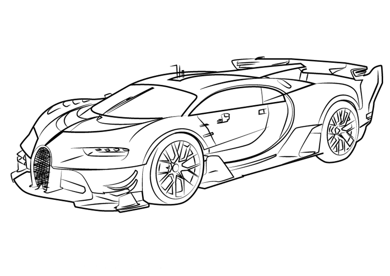 Bugatti Coloring Pages to download and print for free