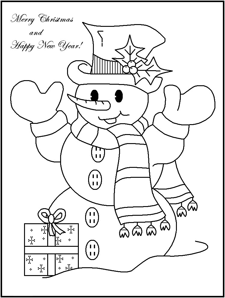 Coloring Pages Snowman to download and print for free