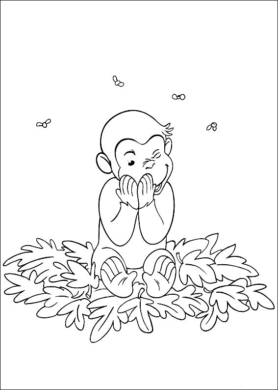 Curious George coloring pages to download and print for free