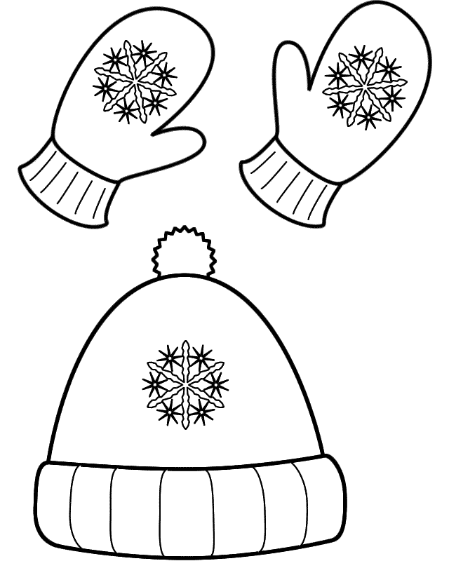 Coloring Pages Clothing: Winter Clothes Coloring Pages To Download And Print For Free
