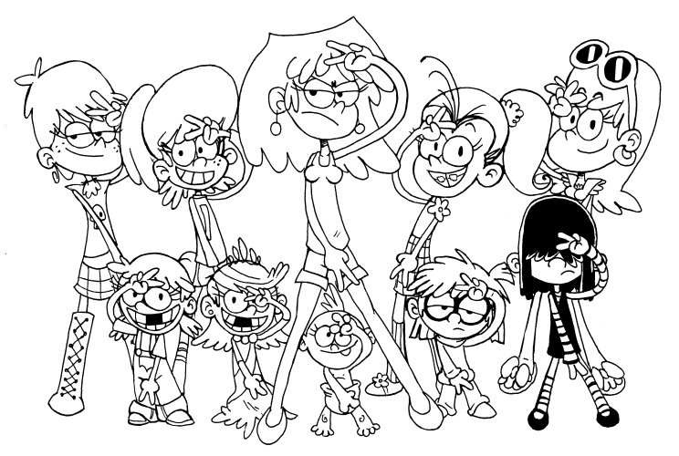 the loud house coloring pages to download and print for free - Coloring In Sheets