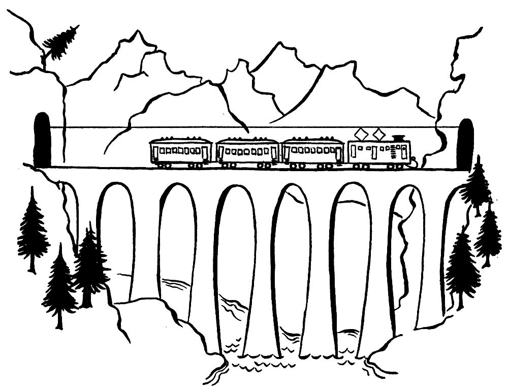 bridge coloring pages for kids - photo#26