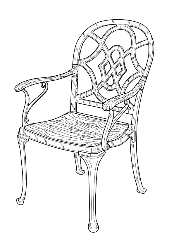 free coloring pages furniture - photo#3