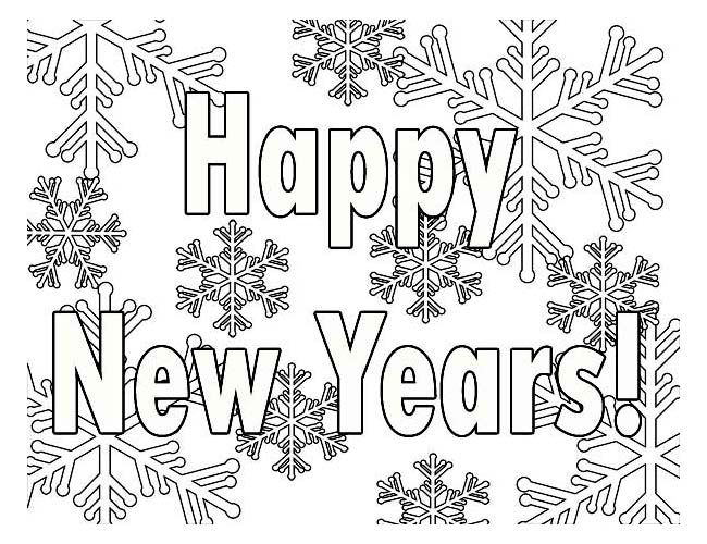Happy new year 2017 coloring pages to download and print for free - New years colors 2019 ...