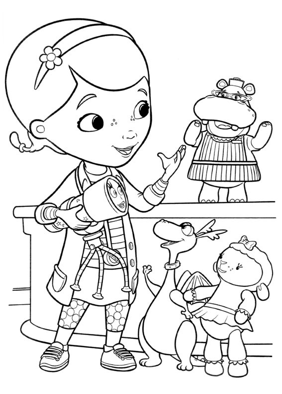 doc mcstuffins coloring pages to download and print for free. Black Bedroom Furniture Sets. Home Design Ideas
