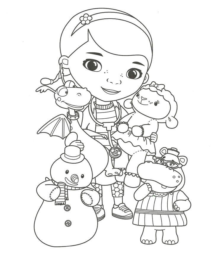 Doc Mcstuffins Coloring Pages to