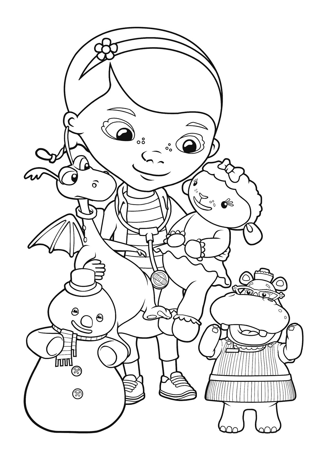 It is a picture of Dynamite Doc Mcstuffins Drawing