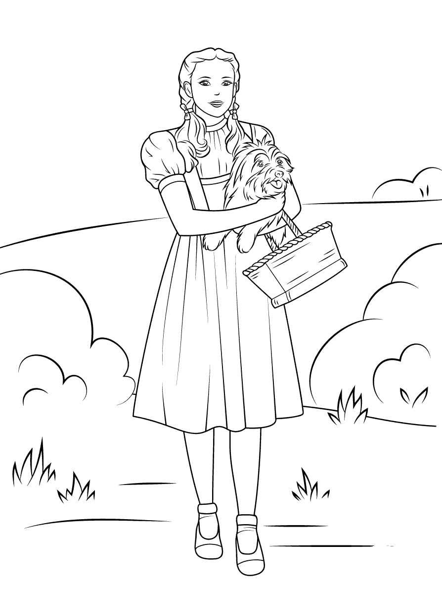 It is a picture of Geeky wizard of oz coloring book