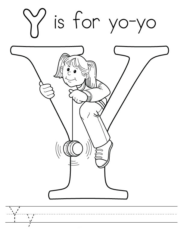 Letter y coloring pages to download and print for free letter y coloring pages thecheapjerseys Images