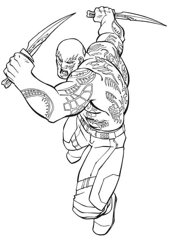 galaxy coloring pages - guardians of the galaxy coloring pages to download and