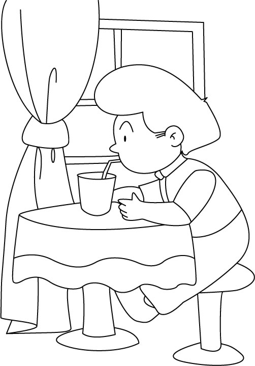 Drinks coloring pages for childrens printable for free Coloring book with water