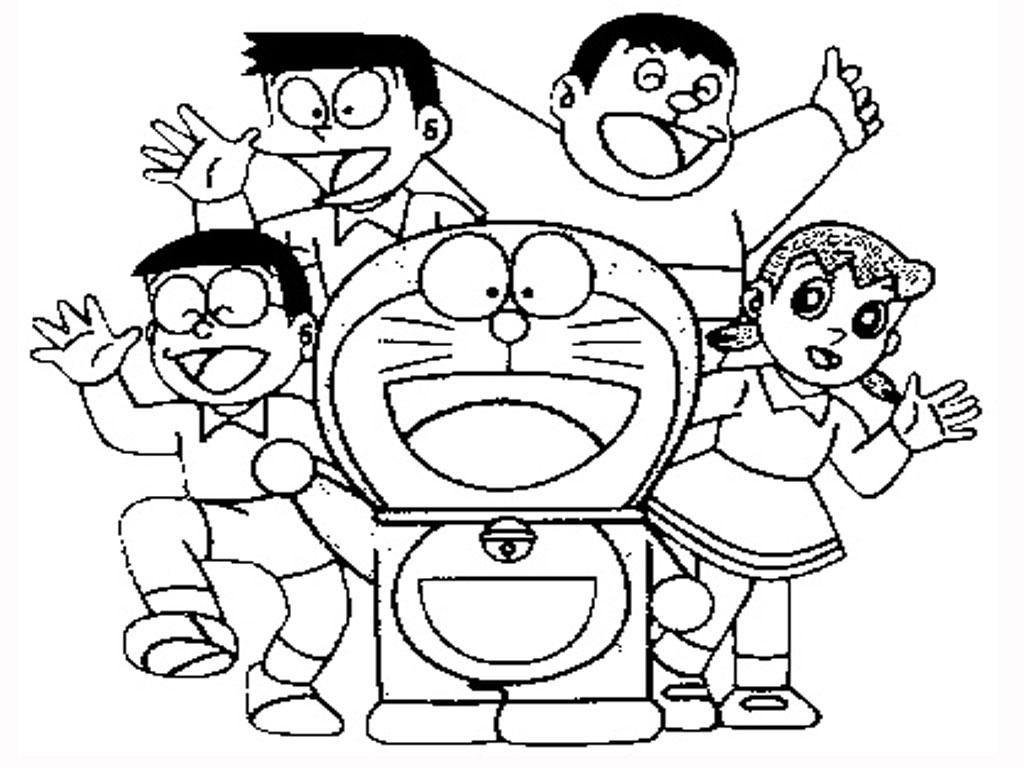 Free coloring page doraemon - Doraemon Coloring Pages